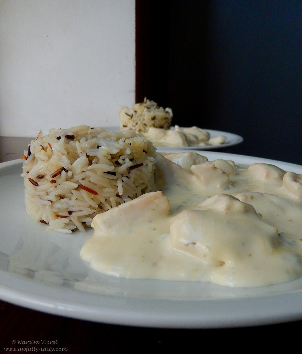 Piept de pui cu gorgonzola