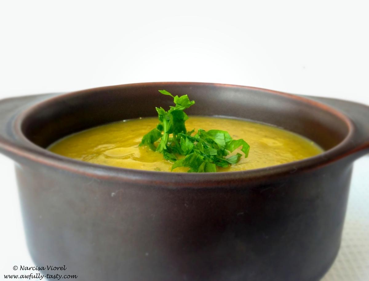 Supă cremă de fasole galbenă - păstăi