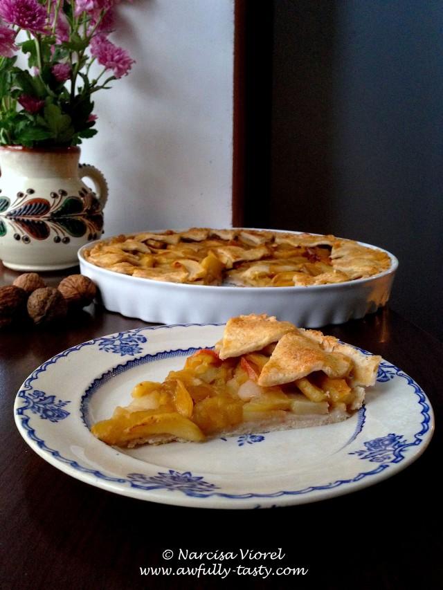 tarta cu mere si pere
