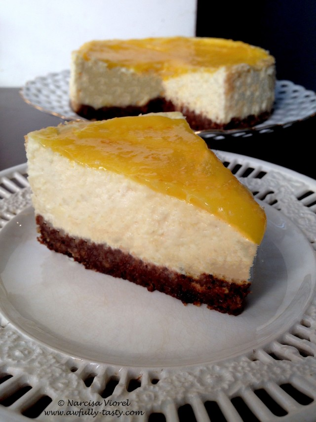 orange curd cheesecake