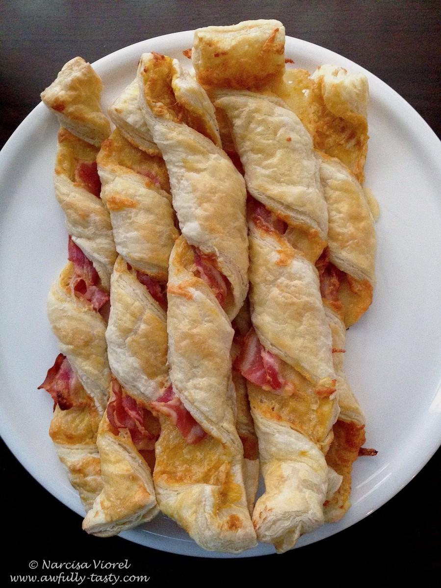 Foietaj răsucit cu bacon și cașcaval