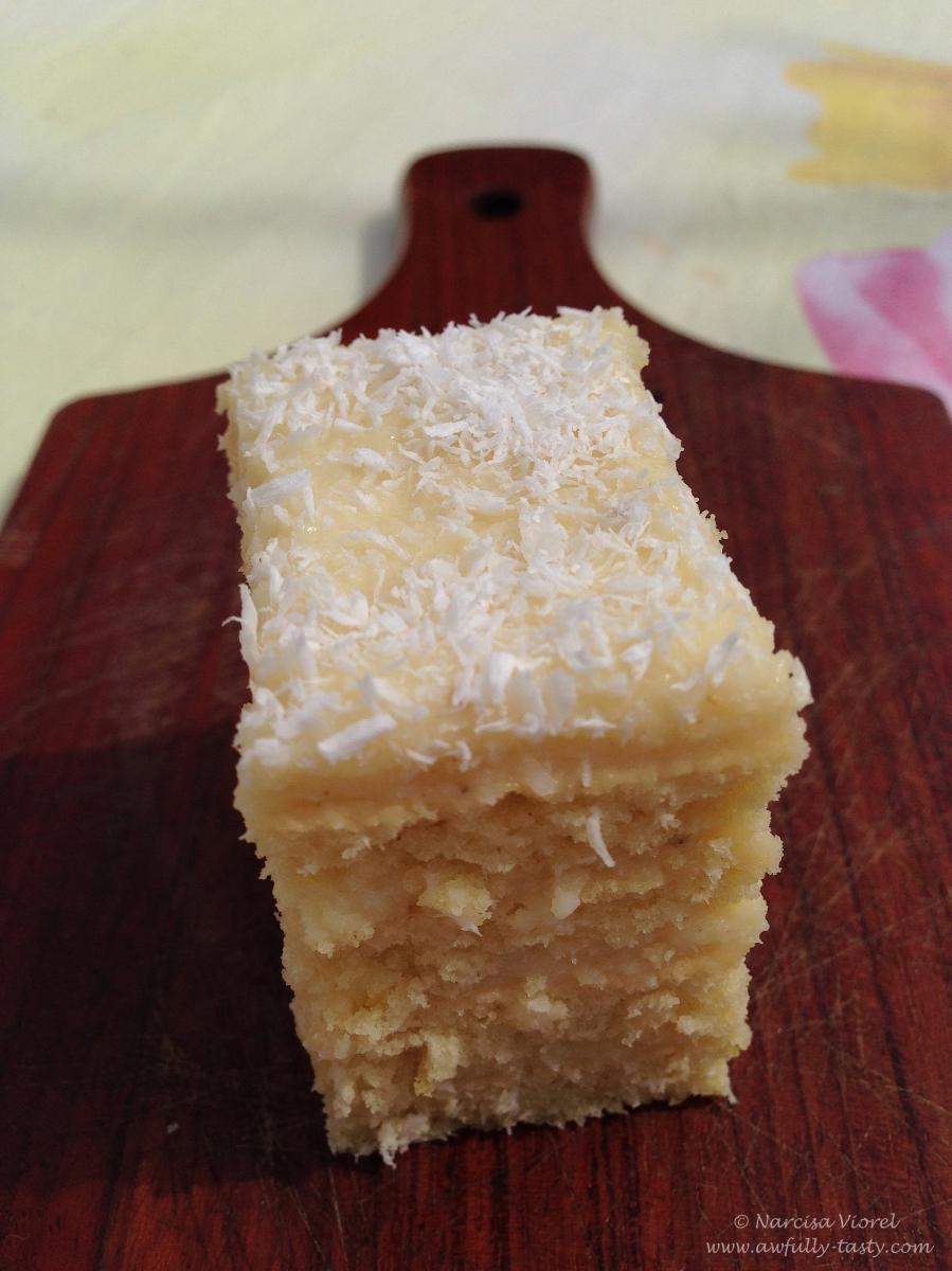 Prăjitură cu foi și nucă de cocos
