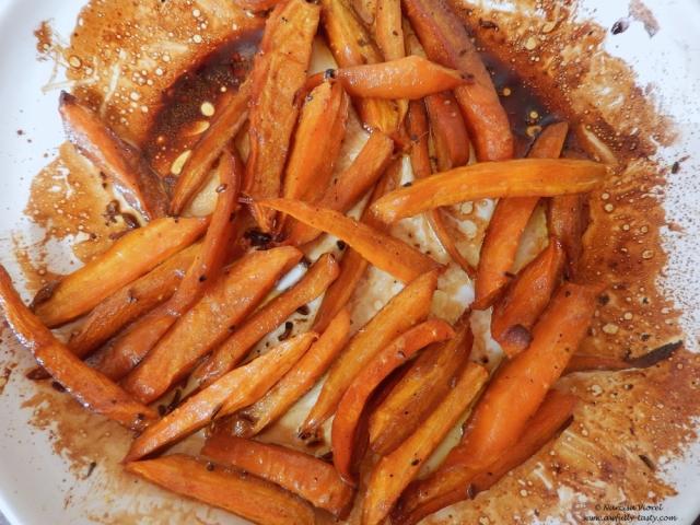 morcovi copti cu sirop de rodie